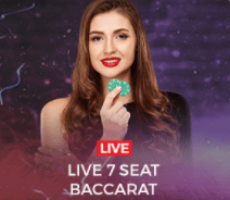 Live Casino Baccarat from The Sun Vegas Casino