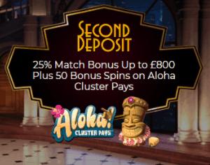 The Grand Ivy Casino Second Deposit Casino Bonus