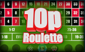 10p Roulette game at G Casino online