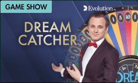 Dream Catcher Live Gameshow available to play in 2021 at Grosvenor Casino read the Casino Review at E-Vegas.com