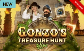 Gonzo's Treasure Hunt Live New game at Grosvenor Live Casino Online Games shows 2021