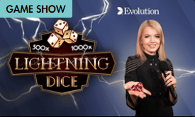 Lightning Dice Gameshow available to play at Grosvenor Casino Online in the UK