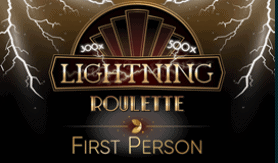 Lightning Roulette by Evolution Gaming available in the table games section of the website.