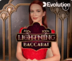Evolution Lightning Live Baccarat see where to play online Baccarat at E-Vegas.com and read the William Hill review online