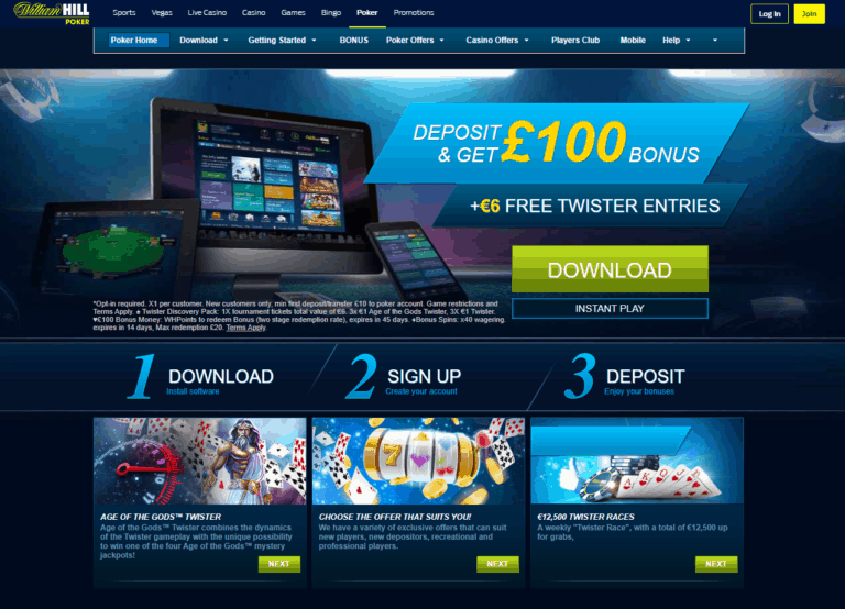 William Hill Poker 2021 Screen shot new to Download william Hill Poker app software