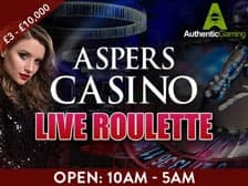 Aspers Casino Live Roulette at Regal Wins