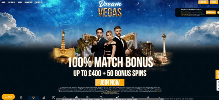 Dream vegas Casino 2021 online casino reviews at E Vegas