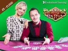 Evolution Gaming Blackjack Party and Slots Live