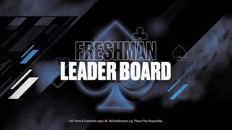 Pokersstars Freshman leaderboard prize $2500