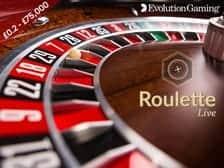 Live Auto Roulette at Regal Wins