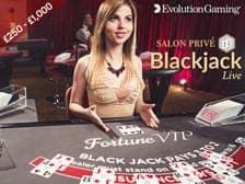 Live Blackjack Fortune VIP Slots Game