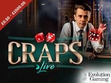 Live Craps Evolution Casino at Aspers