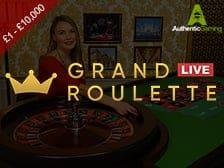 Live Grand Roulette at Regal Wins