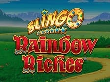 Raibow Riches Slingo Game available to play at Regal Wins Casino online in 2022