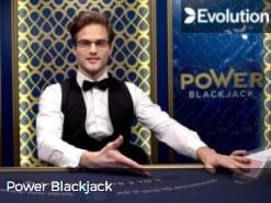 Evolution Power Blackjack online Live Dealer Casino games at Mr Green 2022