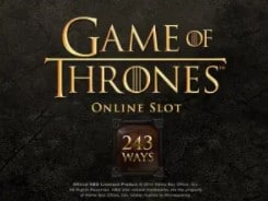 Game Of Thrones 243 Ways slot game online at Mr Green