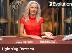 Live Evolution Lightning Baccarat Live Casino game at Mr Green online casino 2021-2022 E-Vegas.com
