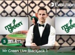 Mr Green Live Blackjack Casino Game 2021 at Mr Green Casino