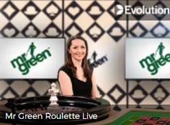 Mr Green Roulette Live Casino Table Games play at Mr Green 2021