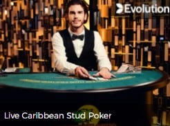 Play Live Casino games like Carbbean Stud Poker at Mr Green online casino in 2021 read the review at E-Vegas.com